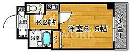 プレサンス京都二条城前[103号室号室]の間取り