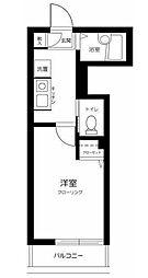西武池袋線 江古田駅 徒歩8分の賃貸アパート 2階1Kの間取り