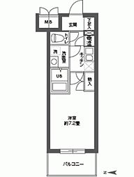CASSIA高井田SouthCourt[0502号室]の間取り