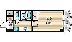 ローズコーポ西中島[4階]の間取り
