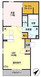 埼玉県さいたま市南区松本3丁目の賃貸アパートの間取り