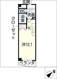 ラ・プリミエール[4階]の間取り