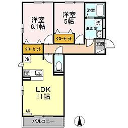 (仮)D-room開成町みなみ[3階]の間取り