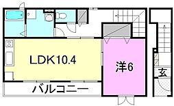 キュベレイ ハウス[201 号室号室]の間取り