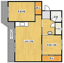 ビレッジハウス飯塚 2号棟[2階]の間取り