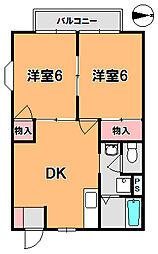 レジデンス桜池[2階]の間取り