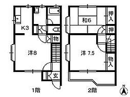 千葉県船橋市二和西の賃貸アパートの間取り