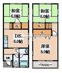 [一戸建] 大阪府大阪市生野区勝山北4丁目 の賃貸【/】の間取り