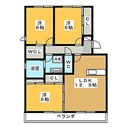 静岡県静岡市葵区大岩1丁目の賃貸アパートの間取り