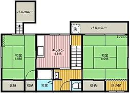 樋口荘[2階号室]の間取り