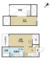 uno(ウノ)[2階]の間取り