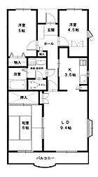 サンスプリングストーン[4階]の間取り