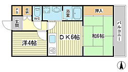 HIJIRIマンション[2階]の間取り