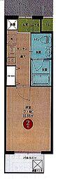 名鉄名古屋本線 名鉄名古屋駅 徒歩10分の賃貸マンション 13階1Kの間取り