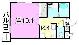 マリベール・トレ4 1階1Kの間取り
