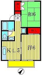 カーサカルム[2階]の間取り