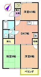 コーポラス渋谷I[203号室]の間取り