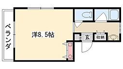 ベルトピア甲子園[301号室]の間取り