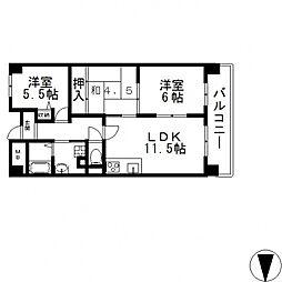 アンドユーイワキ・東大阪[402号室号室]の間取り