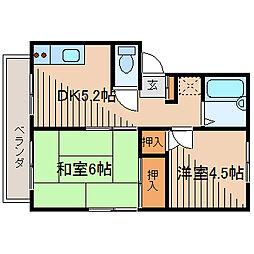 エステートピア矢沢[2階]の間取り
