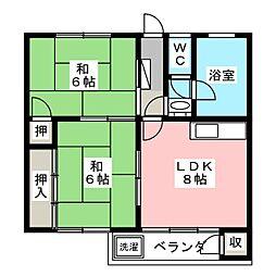 コーポ藤井ビル[3階]の間取り