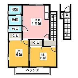 コートハウスII[2階]の間取り