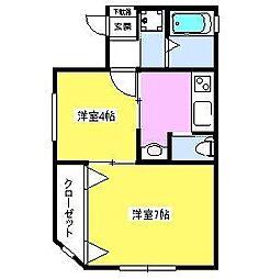 飯村ハイム bt[301kk号室]の間取り