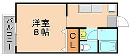 ノーブル22[1階]の間取り