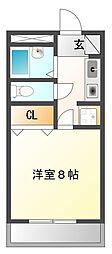 エスタシオン甲子園口[108号室]の間取り