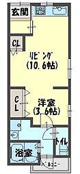 高瀬町アパート[101号室]の間取り