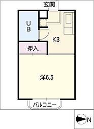 タウン唐山A棟[2階]の間取り