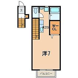 神奈川県横須賀市小矢部2丁目の賃貸アパートの間取り