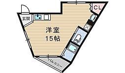 アルウェットD[3階]の間取り