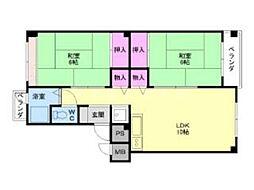 都島コーポ[3階]の間取り