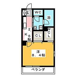 鶴見区生麦3丁目シャーメゾン(仮) 3階1Kの間取り