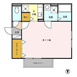 セレッサ花堂 B[2階]の間取り