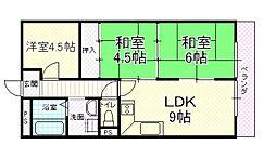 UTOPIA KASHIWARA(ユートピア柏原)[303号室号室]の間取り
