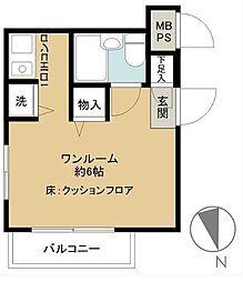 東京都八王子市子安町2丁目の賃貸アパートの間取り