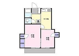 第2ひばり荘[1階]の間取り
