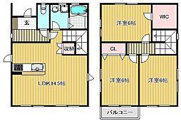 [一戸建] 滋賀県栗東市林 の賃貸【滋賀県 / 栗東市】の間取り
