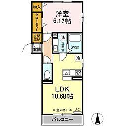 JR東海道本線 岐阜駅 徒歩9分の賃貸アパート 2階1LDKの間取り