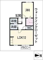 高岡苑[2階]の間取り