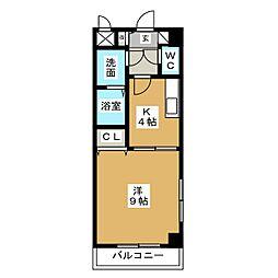 ヴィラコート(VILLA COURT)[4階]の間取り