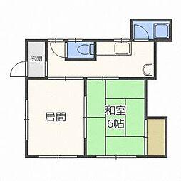 新森アパート[2階]の間取り
