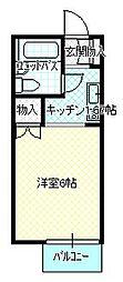 アオキハイツI[B201号室]の間取り