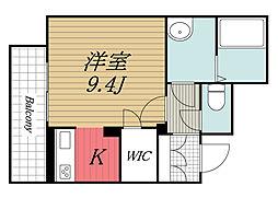 JR内房線 姉ヶ崎駅 徒歩7分の賃貸マンション 3階ワンルームの間取り