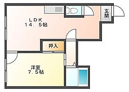 佐倉ビル[4階]の間取り