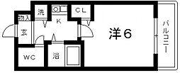 ディナスティ清水谷III[702号室号室]の間取り