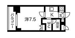 Osaka Metro堺筋線 堺筋本町駅 徒歩3分の賃貸マンション 7階1Kの間取り