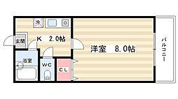エスポアール21[4階]の間取り